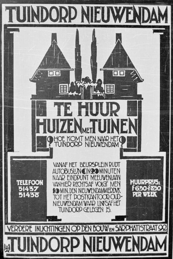 Poster Huizen Te Huur In Tuindorp Nieuwendam