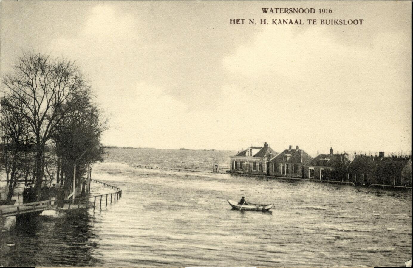 noordhollandsch kanaal te buiksloot watersnood 1916